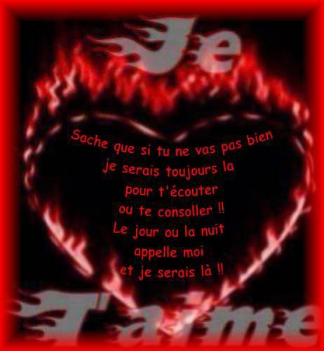 poème d'amour sous forme d'un sms d'amour
